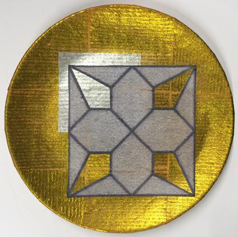 "carl m. george ""geo 6"" collage plate   chairish"
