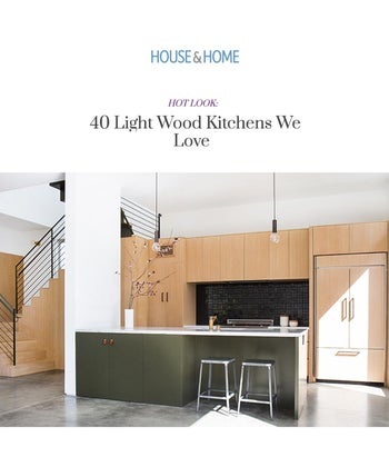 HOT LOOK: 40 Light Wood Kitchens We Love
