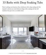 33 Baths with Deep Soaking Tubs