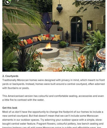 Houzz: How to Infuse Moroccan Elements into your Decor