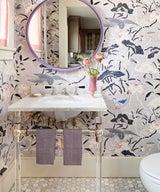 Room We Love: A Pretty-In-Purple Powder Room