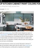 ELLE Decor - The Top Kitchen Cabinet Paint Colors For 2020