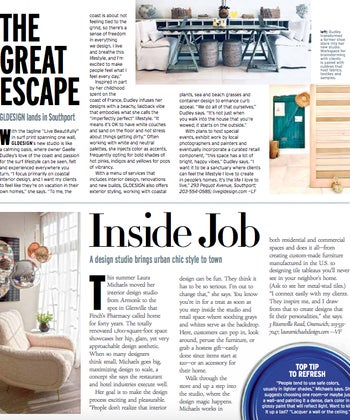 Inside Job: A design studio brings urban chic style to town