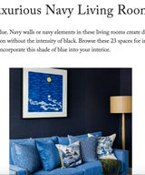 Luxurious Navy Living Rooms
