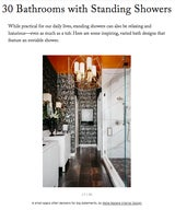 30 Bathrooms with Standing Showers