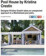 Pool House By Kristina Crestin