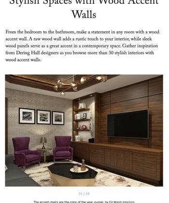 Stylish Spaces with Wood Accent Walls