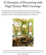 33 Examples of Decorating with High-Texture Wall Coverings
