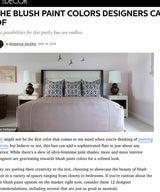 ELLE Decor - The Blush Paint Colors Designers Can't Get Enough Of
