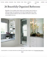 26 Beautifully Organized Bathrooms