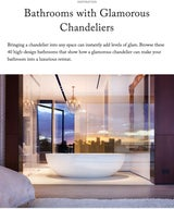 Bathrooms with Glamorous Chandeliers