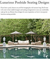 Luxurious Poolside Seating Designs