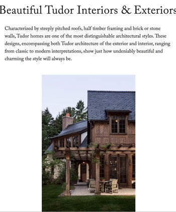 Beautiful Tudor Interiors & Exteriors