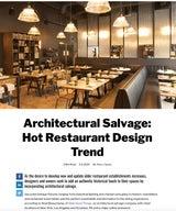Architectural Salvage: Hot Restaurant Design Trend