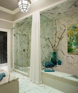 30 Bathrooms with Elegant Marble Accents