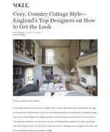 Cozy, Country Cottage Style - England's Top Designers on How to Get the Look
