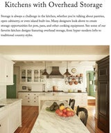 Kitchens with Overhead Storage