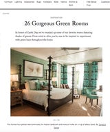 26 Gorgeous Green Rooms