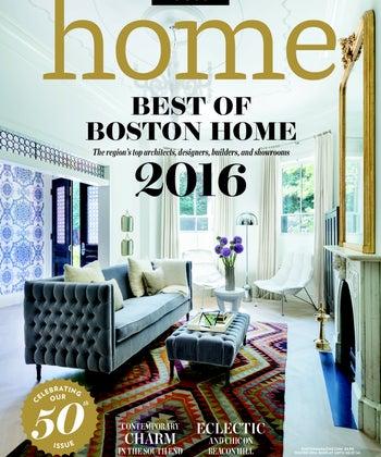 2016 Best Contemporary Interior Designer, Boston Magazine
