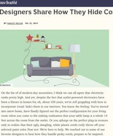 House Beautiful - 9 Designers Share How They Hide Cords In Interiors