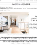 Goop Article featuring the Hermosa Beach Strand House