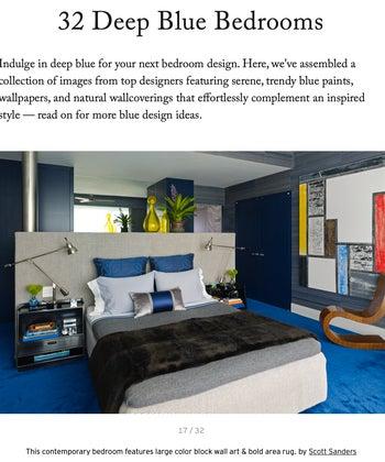 32 Deep Blue Bedrooms