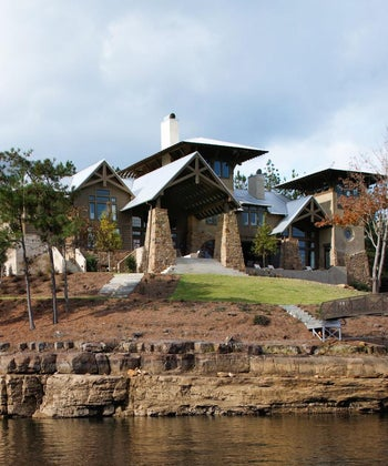 HGTV Faces of Design Editor's Pick Winner | Waterside Retreat Category | Sophisticated Cabin-Inspired Home