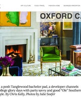 "Oxford Calling: In a posh Tanglewood bachelor pad, a developer channels college glory days with party savvy and good ""Ole"" Southern style."