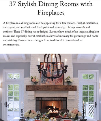 37 Stylish Dining Rooms with Fireplaces
