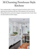 30 Charming Farmhouse-Style Kitchens