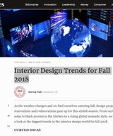 Forbes Interior Design Trends for Fall 2018
