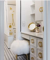 A 53-Sq-Ft Bathroom Undergoes a Glam Transformation