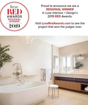 Presidio Terrace wins Luxe Red Award for Best Bathroom