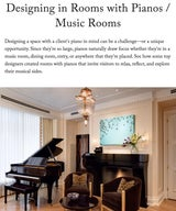 Designing in Rooms with Pianos / Music Rooms