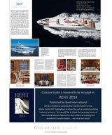 Colacion Studio - Highlighted in BOAT INTERNATIONAL - REFIT 2014