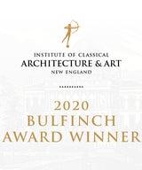 """Winner of the 2020 """"Bulfinch Award"""""""
