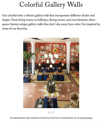 Colorful Gallery Walls