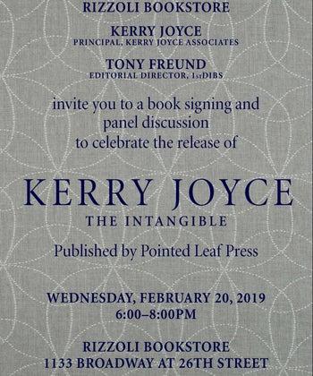 RIZZOLI BOOK SIGNING     Kerry Joyce     Intangible