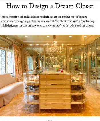 How to Design a Dream Closet