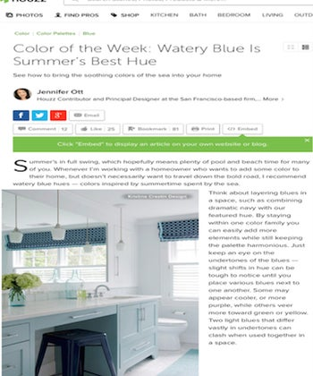 Color of the Week: Watery Blue is Summer's Best Hue