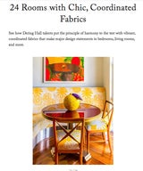 24 Rooms with Chic, Coordinated Fabrics