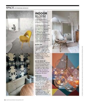 Spring 2017 Interior Trends Article for Boston Common Magazine