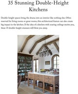 Stunning Double-Height Kitchens