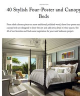 40 Stylish Four-Poster and Canopy Beds