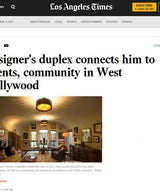 """Designer's duplex connects him to clients, community in West Hollywood"""