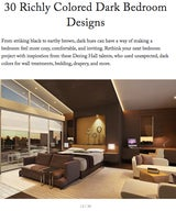30 Richly Colored Dark Bedroom Designs