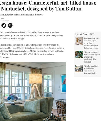Design House: Characterful, art-filled house in Nantucket designed by Tim Button
