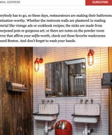 15 Best Restaurant Bathrooms in Boston