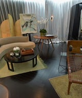 "Dragonette Ltd's ""Milan"" Side Table in the Emmy's Green Room"