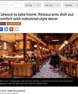 Takeout to take home: Restaurants dish out comfort with industrial-style decor
